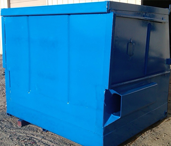 Blue Dumpster Ben That Been Painted