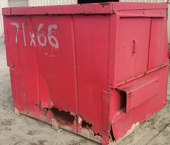 Red Trash Bin Repair