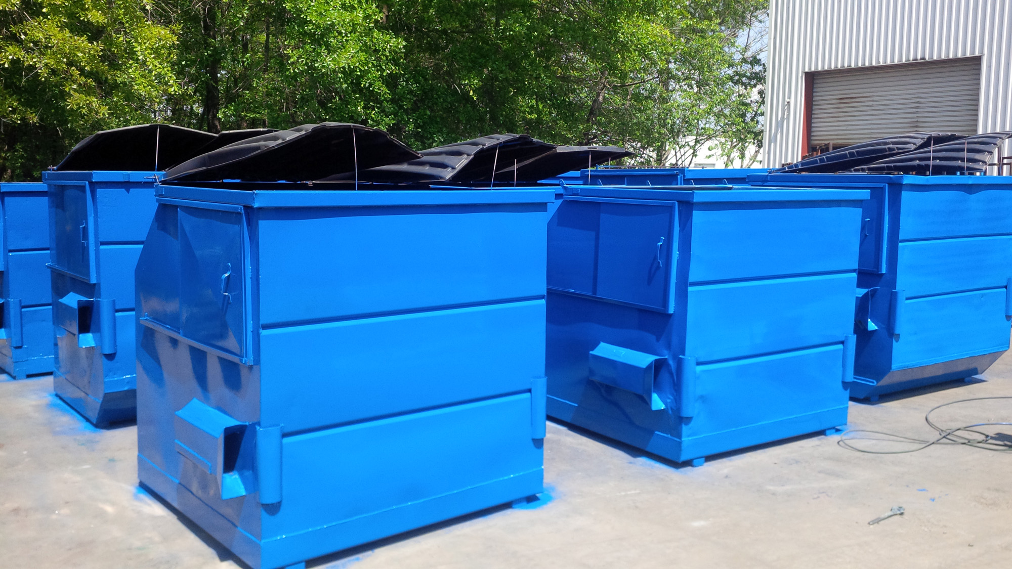 A Set Of Dumpster That Been Repaired